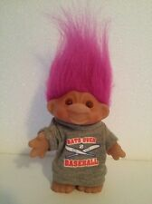 vintage dam troll doll pink hair Bats Over Baseball Shirt