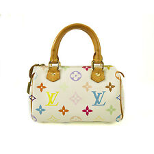 Louis Vuitton White Murakami Multicolor Monogram mini sac Speedy Bag long strap