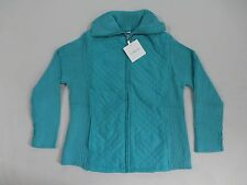 Croft & Barrow Women's Ribbed Turtleneck Jacket Baltic GG8 Size Petite Large NWT