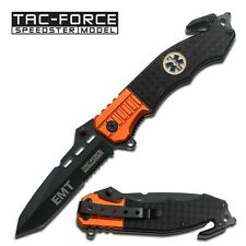 "8.5"" TAC FORCE EMT RESCUE SPRING ASSISTED POCKET KNIFE Blade Assist Open Switch"