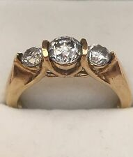 1 Carat 3 Stone Diamond Ring Set In 14 Karat Gold Past Present Future