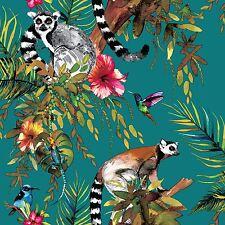 Lemuro Wallpaper-Cerceta-Holden 12402 Imaginarium Forest