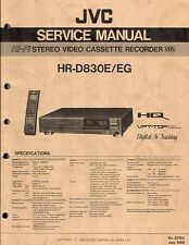 JVC ORIGINALE Service Manual per HR-D 830 E/CE