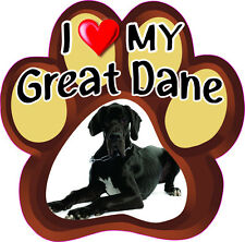 I LOVE MY Great Dane Bumper sticker PAW #249