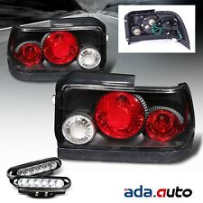 1993-1997 Toyota Corolla Black Tail Lights + LED Fog Lamps {Combo}