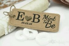 'Mint To Be' Thank you Favour Tags Gift Tags Wedding Set x50 Personalised