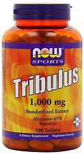 NOW Sports Tribulus Terrestris 1000mg 180 Tablets Testosterone Booster Now Foods