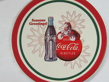 "Coca-Cola 8"" Christmas Plate - ""Seasons Greetings"""