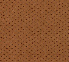 Holly Wishes Moda Fabrics Gold Brown red/green double dots #9444 material by FQ
