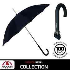 Classic Large Mens Black Automatic Opening Strong Walking Stick Quality Umbrella