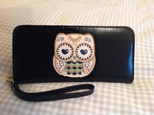 Large black cute owl purse or small bag,great ladies gift idea,birthday present