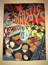 Arctic Monkeys Sasquatch 2006 Jay Ryan Poster Art Print Free Shipping In US.