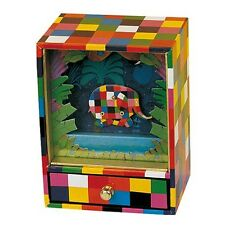 Elmer Elephant Mechanical Music Box Vintage Retro Toy Wind Up Clockwork Gift
