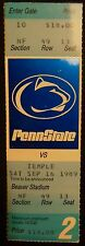1989 Penn State Football Ticket Stub - Unused -  Temple game 2