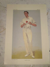 VANITY FAIR PRINT CRICKET AN ARTFUL BOWLER MR B.J.T BOSANQUET UK POSTAGE