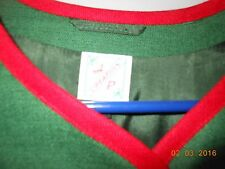 Trachtenjacke (European Traditional Jacket), green with Edelweiss, 38