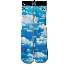 Odd Sox Men's Sky High Socks Multi-Color Clouds Clear Day