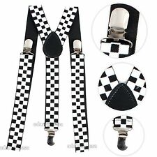 Mens Retro Brace Suspenders Many Colours One Size