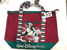 Walt Disney World Mickey Minnie Mouse Christmas Holiday Large Tote Bag Purse