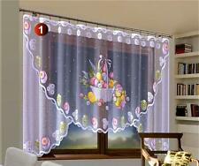"""Very Easter Attractive Net Curtains  Chicken 118""""x 59""""  300x150cm No Tape Top"""