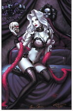 Lady Death w/ Skull SIGNED X2 Art Print by Brian Pulido & Sabine Rich