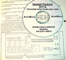 HP Hewlett Packard 3571A Spectrum Ananlyzer Operating & Service Manual