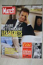 PARIS MATCH N° 3191--BETTENCOUR ET BANIER/MARCEAU-LAMBERT/STEVE MC QUEEN