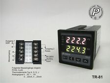 TR-81 PID u. On/Off Temperaturregler  Sensor u. Analogeing., SSR- & Relaisausg.