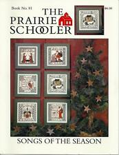 The Prairie Schooler SONGS OF THE SEASON Cross Stitch Chart Book No. 81 EUC
