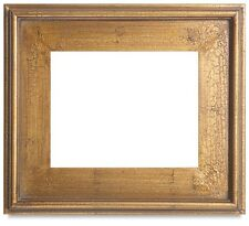 Classic Style Plein Air Antique Gold Leaf Crackle Wood Frame Size 8x10 Inches