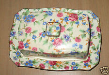 Royal Winton Grimwades Old Cottage Chintz Cheese / Butter Dish Made In England