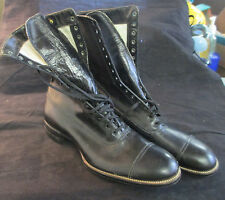 VIINTAGE PAIR OF **BUSTER BROWN ** EDWARDIAN STYLE LADIES BLACK BOOTS