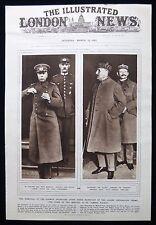 WW1 GERMAN REPARATIONS HANS VON SEECKT MAXIME WEYGAND FERDINAND FOCH 1pp 1921