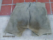 "pr vintage men's German lederhosen leather shorts 26"" waist"