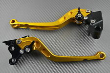 levier leviers levers long CNC or gold Suzuki GSXR 1000 K7 K8 2007-2008