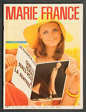 'MARIE-FRANCE' FRENCH VINTAGE MAGAZINE HOLIDAY ISSUE AUGUST 1970