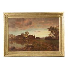 Fine Antique Landscape Painting by Robert Gallon (English, 1845-1925), Signed
