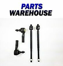 4 Piece Set Of 2 Inner 2 Outer Tie Rod End For Chevy Saturn 2 Year Warranty