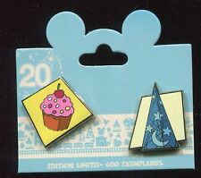 DLP 20th Anniversary Board Game Cupcake Sorcerer Hat LE 600 Disney Pin 92794