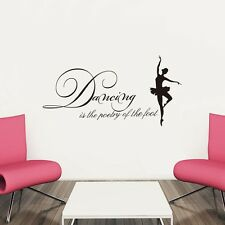 Ballet Dancing Girl Vinyl Art Decal Wall Sticker Home Decal Removable Decor