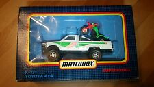 MEGA RARE MATCHBOX SUPERKING K171 TOYOTA 4x4 HILUX +HONDA ATV TRIKE OFF ROAD SET
