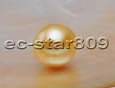 P5692 Lustre Natural 13mm Golden ROUND Edison KESHI PEARL LOOSE BEAD