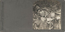 STEREOVIEW OF WWI BRITISH SOLDIER DECOMPOSING IN UNIFORM