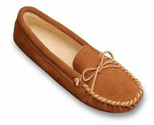 Minnetonka Womens 363 Brown Suede Pile Lined Softsole Moccasin 11M New