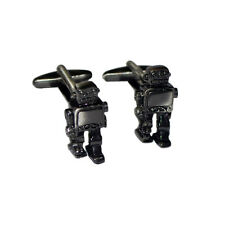 Antique Finish Retro Robot CUFFLINKS Sci Fi GEEK Inventor BIRTHDAY PRESENT
