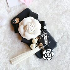 Girls Favourite Pearl Tassel Flower Soft TPU Phone Case For iPhone 6 6s 7 7 Plus