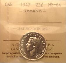 1947 25CENT ICCS MS64