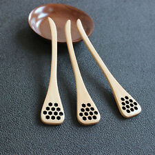 BIONIC NATURAL WOOD HONEY DIPPER DRIZZLER SERVER Mixing Stick Spoon Healthy EFU