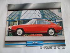 CARTE FICHE VOITURES D'EXCEPTION GLAS 1700 GT