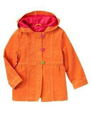 GYMBOREE Fall for Autumn Orange Toggle Corduroy Coat Girls M 7 - 8 new